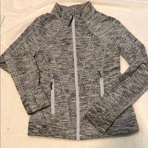 Ivivva heathered coal zip up: girls size 12